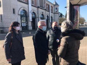 Blois visite chantier Théâtre