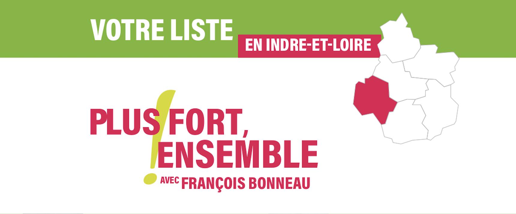 La section d'Indre-et-Loire de la liste régionale