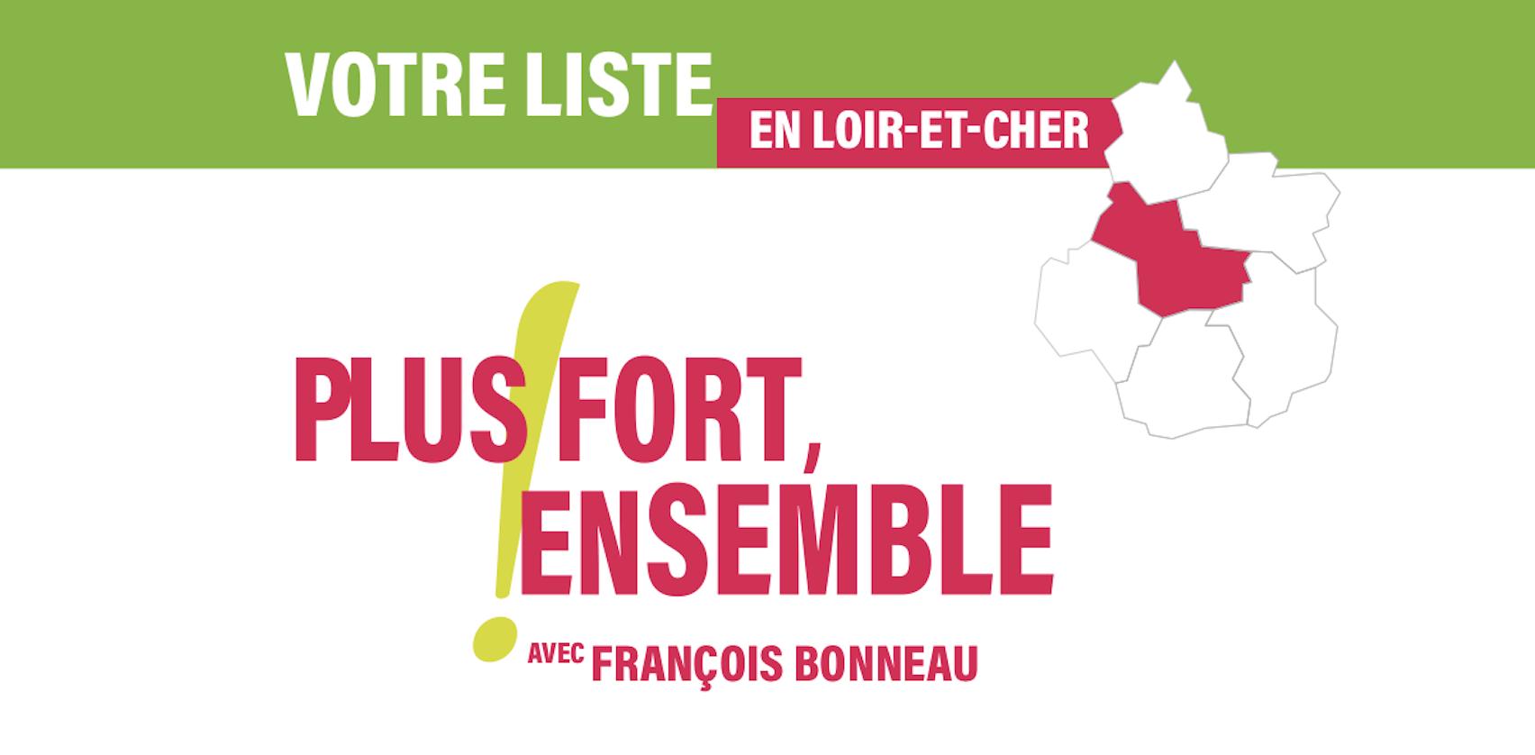 La section de Loir-et-Cher de la liste régionale