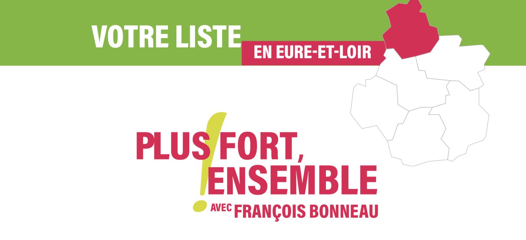 La section d'Eure-et-Loir de la liste régionale